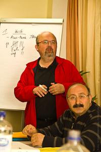 Vereins-Aktive bei der Vorstandswahl - Aktions-Gruppenfoto
